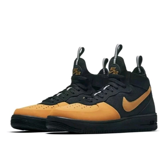 c9aee7716 Nike Shoes   Af1 Ultraforce Mid Tech Black Gold   Poshmark